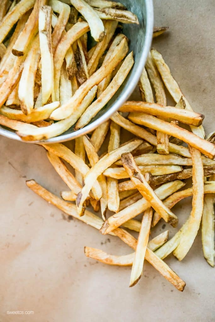 The best homemade fries ever- this trick is fantastic!