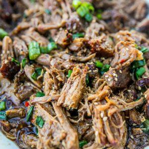 Slow Cooker Honey Soy Pulled Pork
