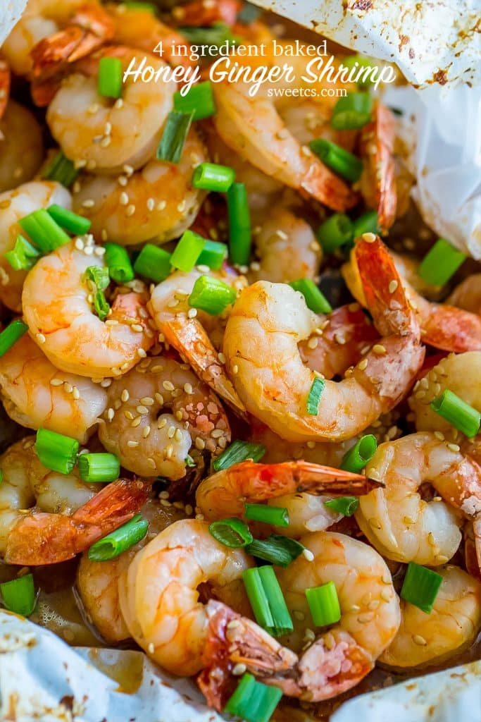 This recipe for honey ginger baked shrimp is so delicious!