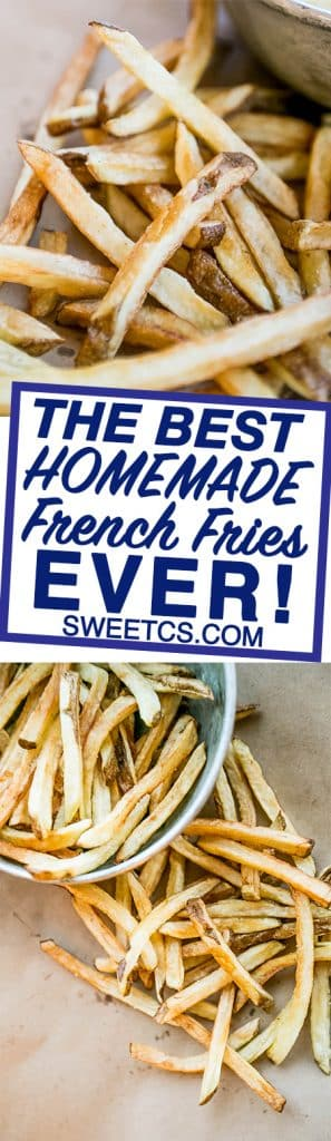 This trick get the most flavorful, crunchy home made french fries every time!