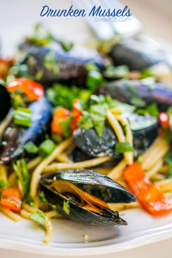 Drunken mussels- these are delicious and full of a ton of flavor- plus they are SO easy!