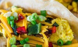 Poblano Egg Breakfast Tacos