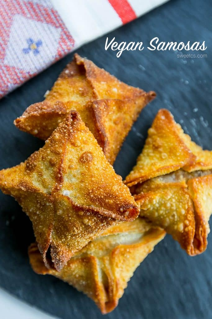 These meaty vegsn samosas are so easy and delicious!