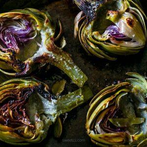 Steakhouse Style Garlic Butter Charred Artichokes