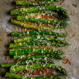 Quick and easy, Oven Roasted Parmesan Asparagus