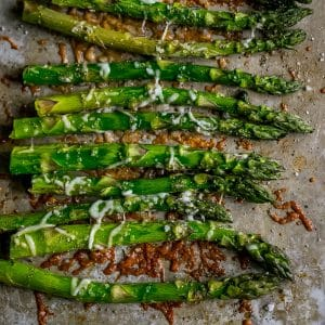 So good, Oven Roasted Parmesan Asparagus