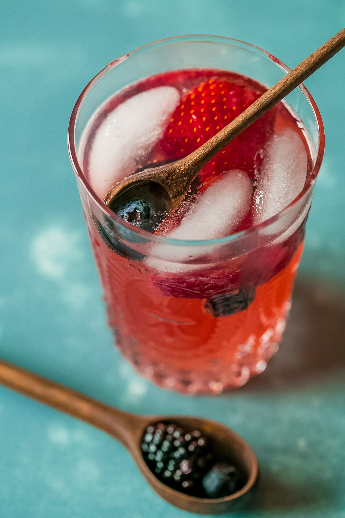 This basil berry lemonade is so delicious- love the adult version!