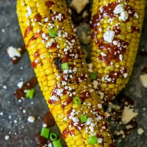 Fun sides, Sriracha Cheese Grilled Corn