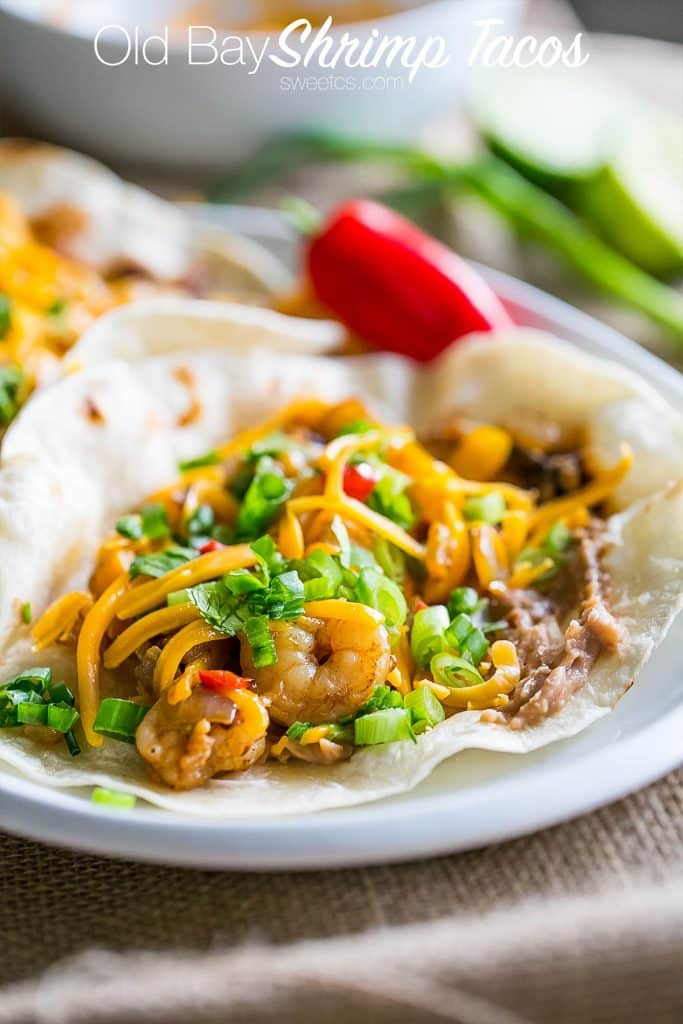Old bay shrimp tacos- these are so delicious and SO full of flavor!