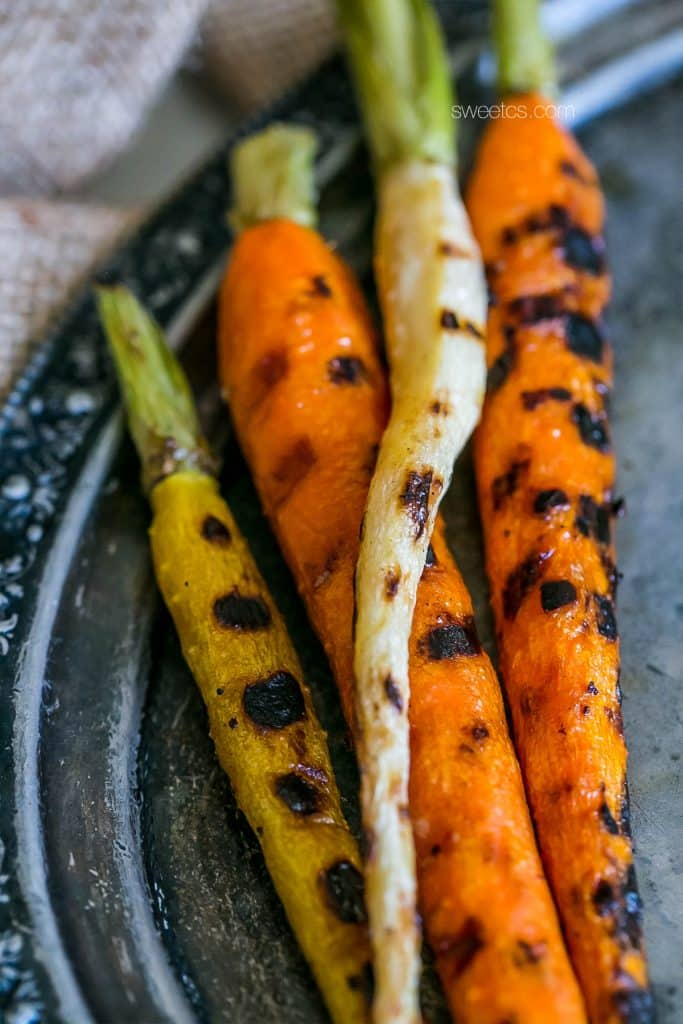 These butter roasted carrots are so tasty- the perfect side dish!