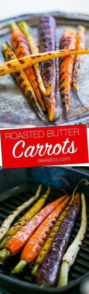 These buttery pan roasted carrots are so delicious and easy!