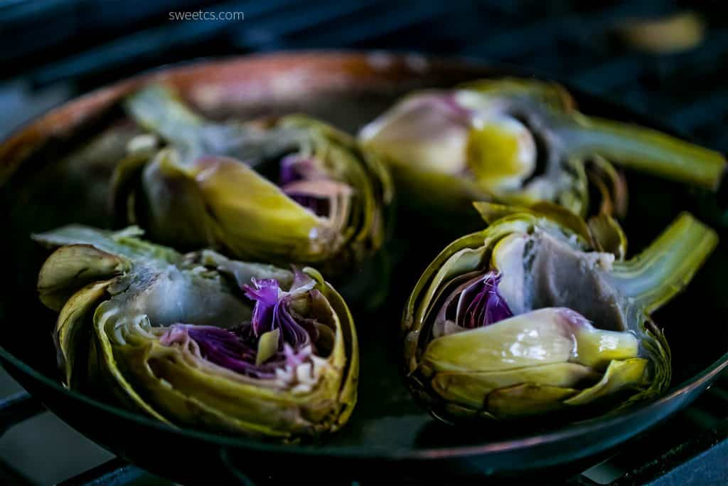 These caramelized garlic butter artichokes are the best recipe I've found on pinterest!