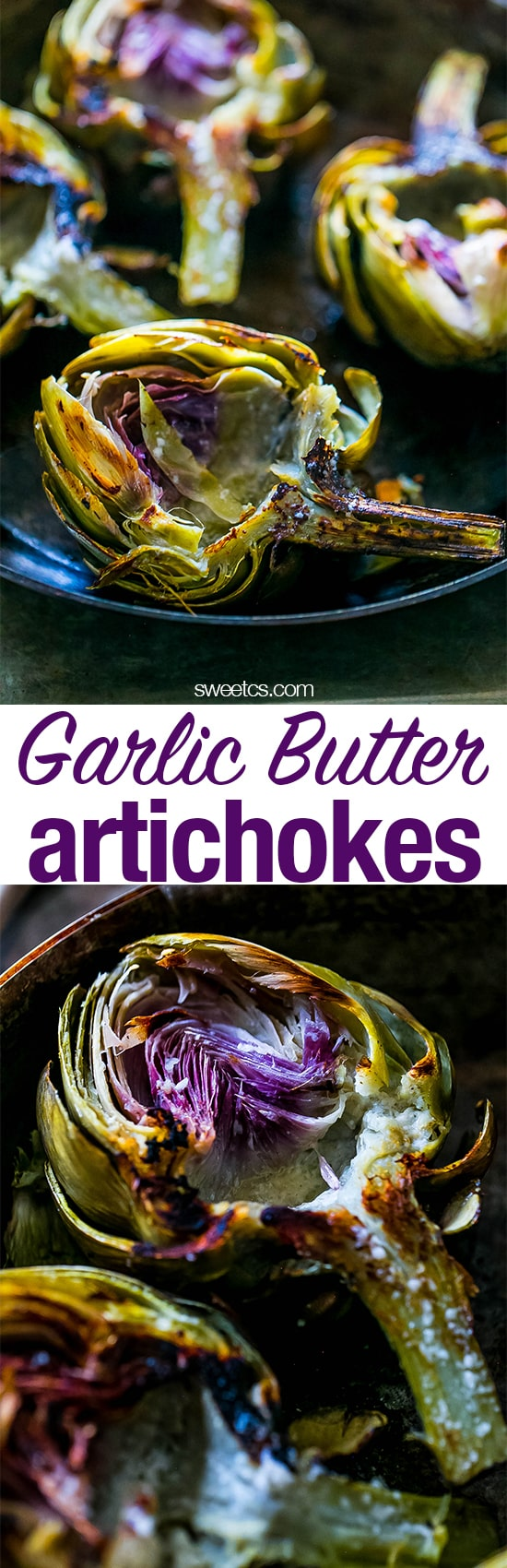 These garlic butter artichokes are the best ever!