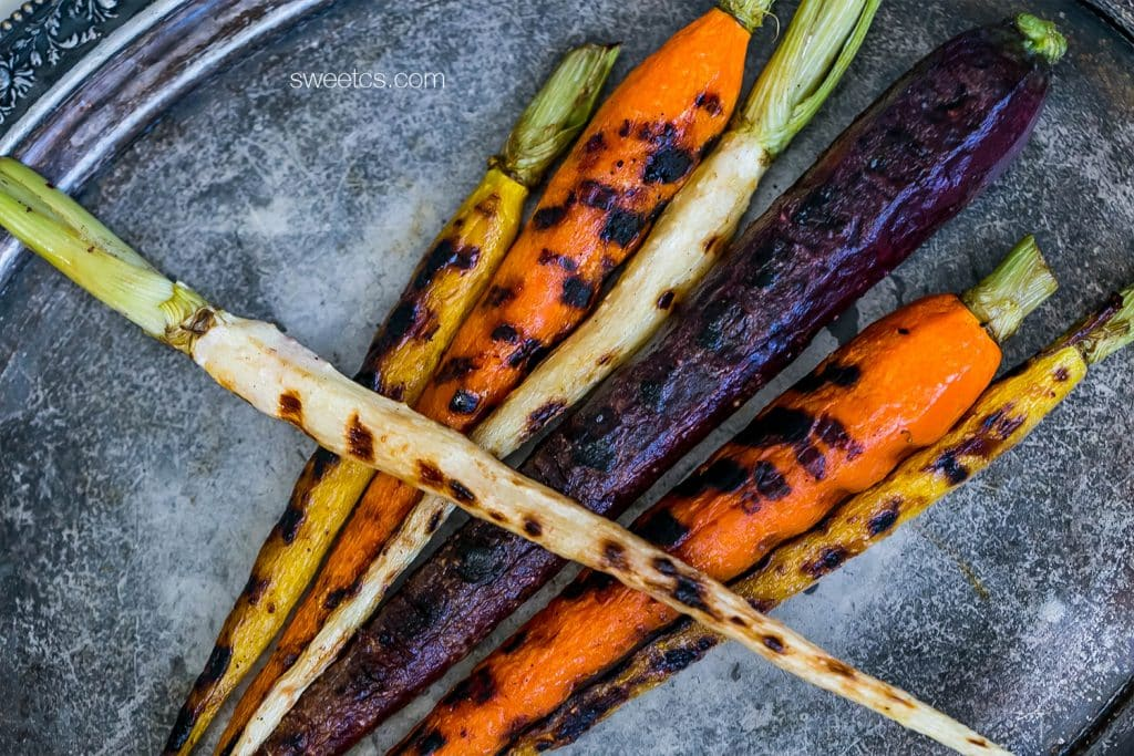 These pan roasted butter carrots are my favorite! Tons of flavor!