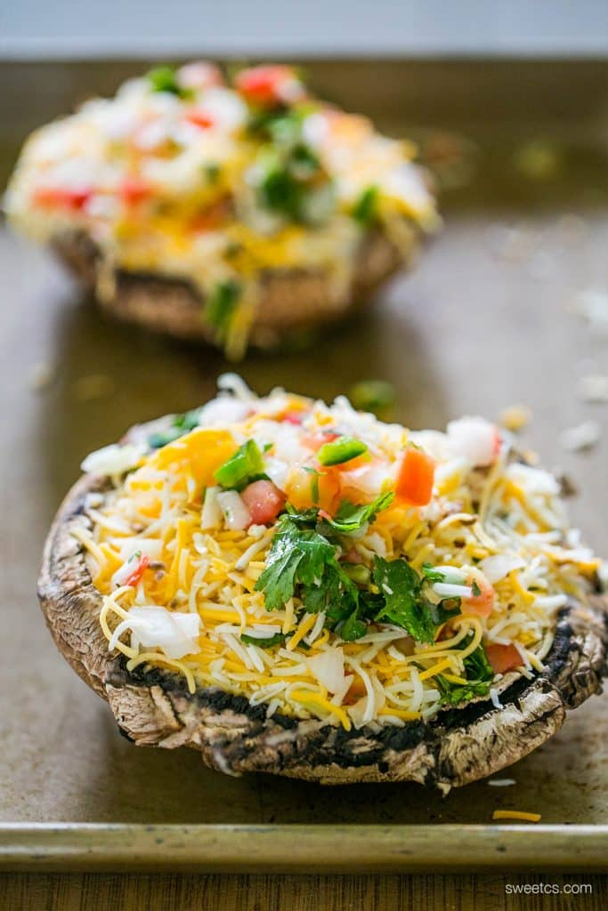 These taco stuffed mushrooms are so easy and delicious- and naturally gluten and grain free!