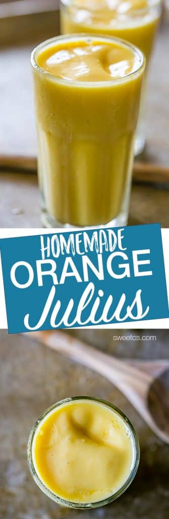 This is the best recipe for homemade orange julius!