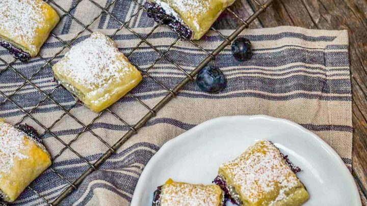 Blueberry Puff Pastry Rolls