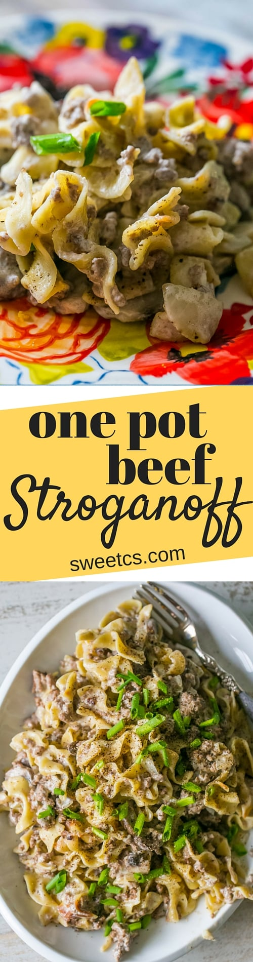 This one pot stroganoff is so delicious and easy - tons of rich flavor without a big huge mess!