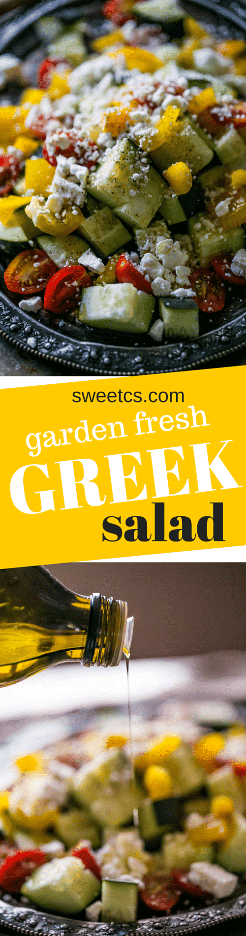 garden fresh greek salad - my summertime favorite!