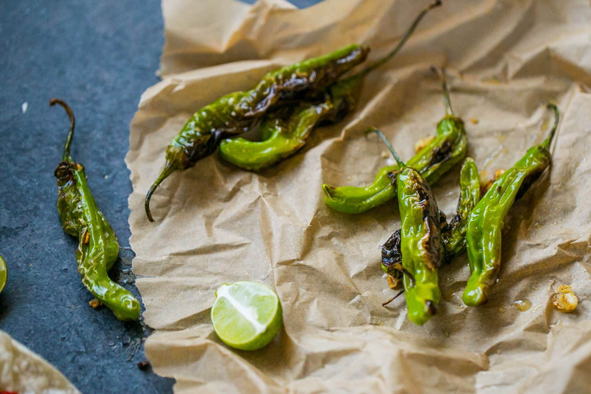 I love shishito peppers- and this recipe for blistered shishito peppers is the BEST!