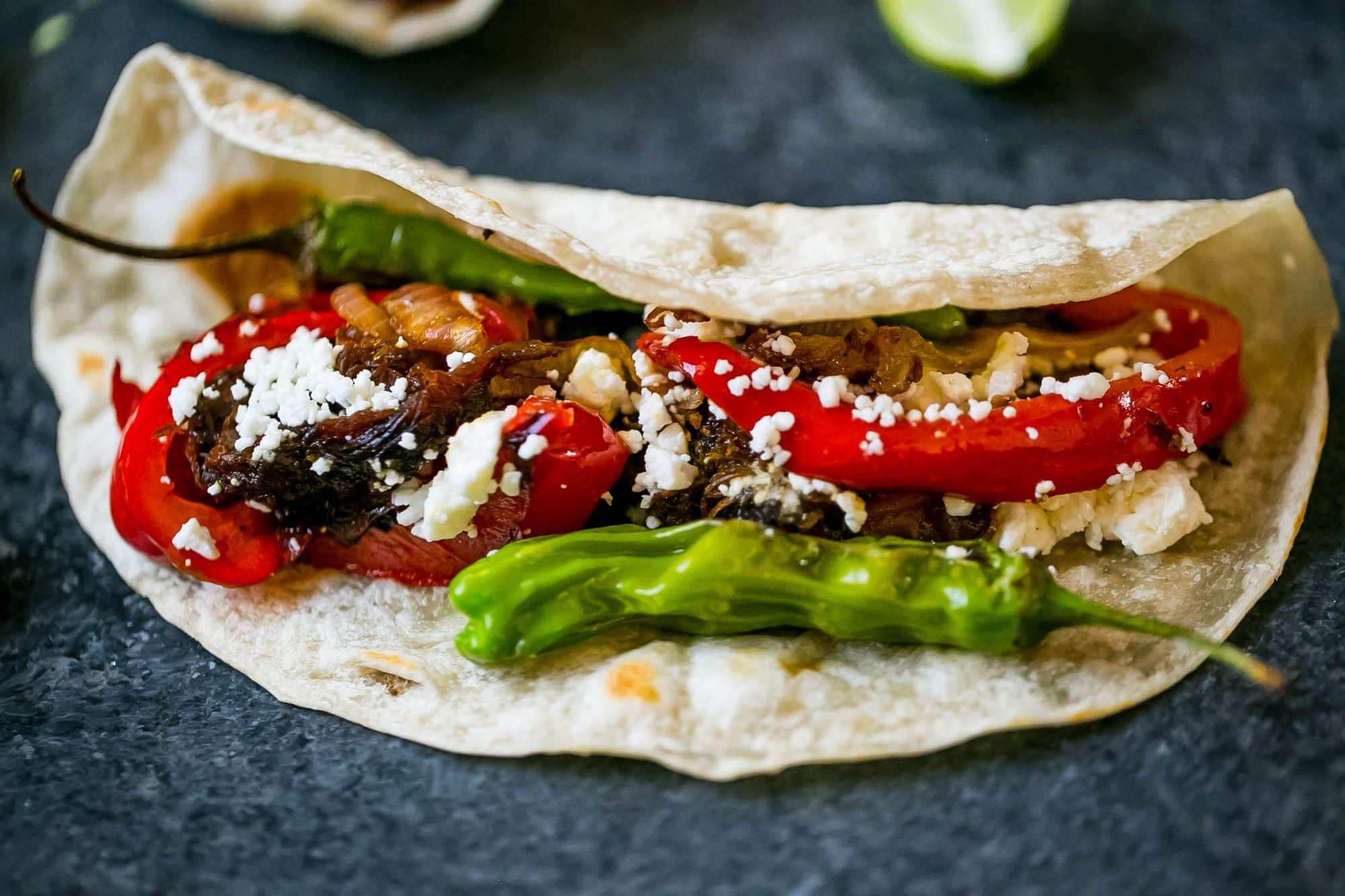 I love all the delicious peppers in this tequila habanero short rib taco recipe!