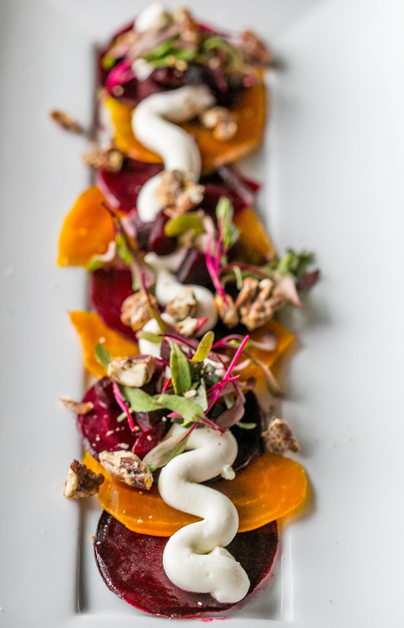 beet salad, rosso at Hotel Sorella