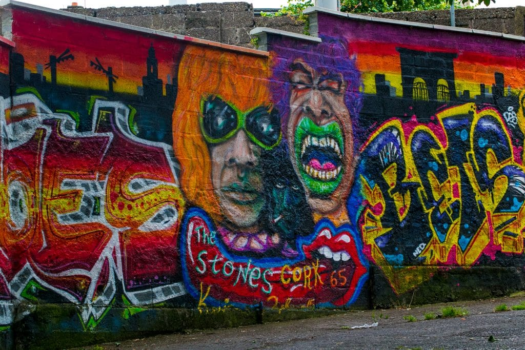 Rolling Stones Cork graffiti, Cork Ireland