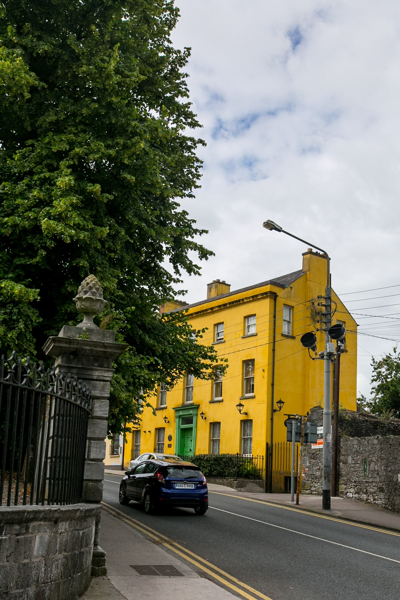 bright yellow house, Cork Ireland