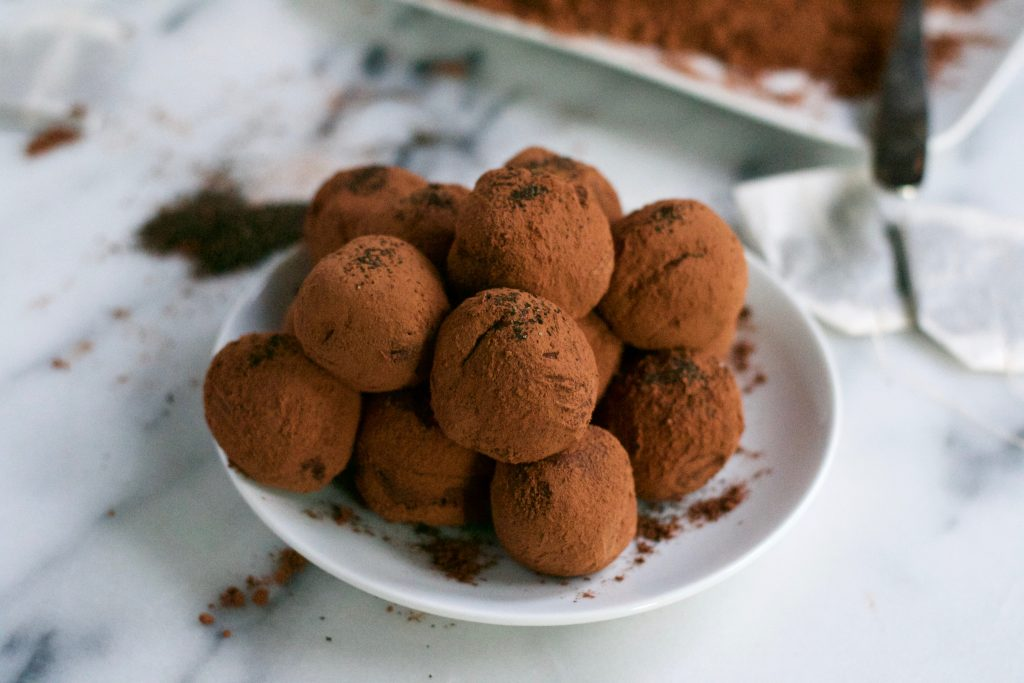 These vegan earl gray truffles are AMAZING!