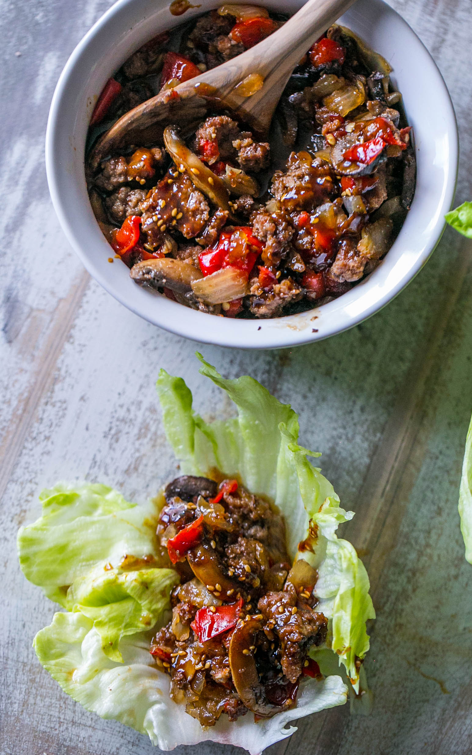 Sweet Chili Beef Slow Cooker Lettuce Wraps ⋆ Sweet C's Designs