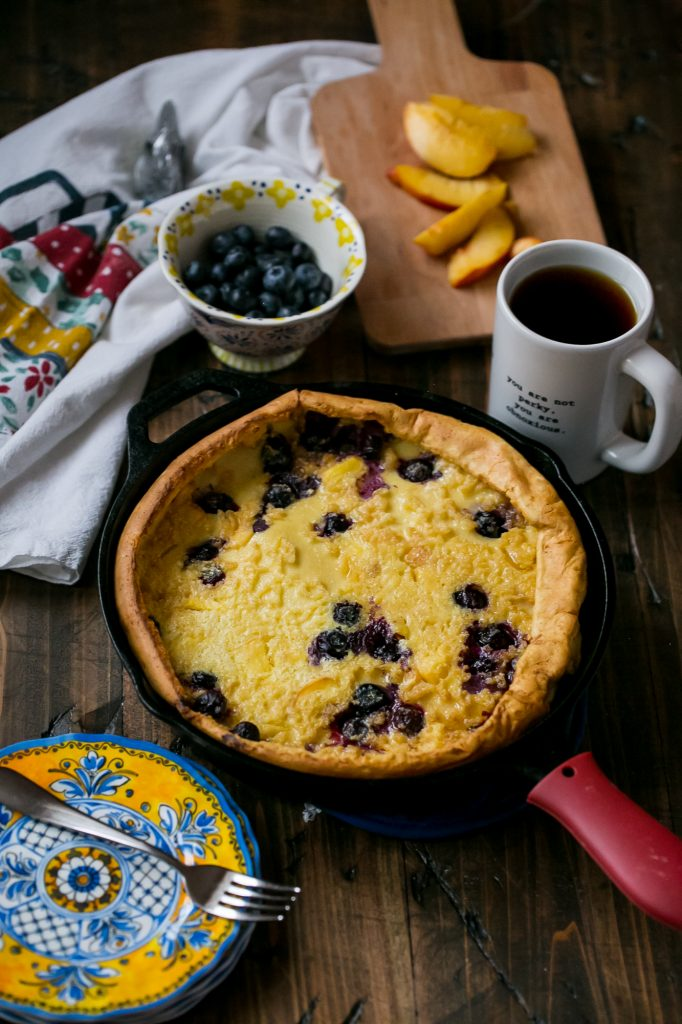 These dutch babies are loaded with fresh fruit!