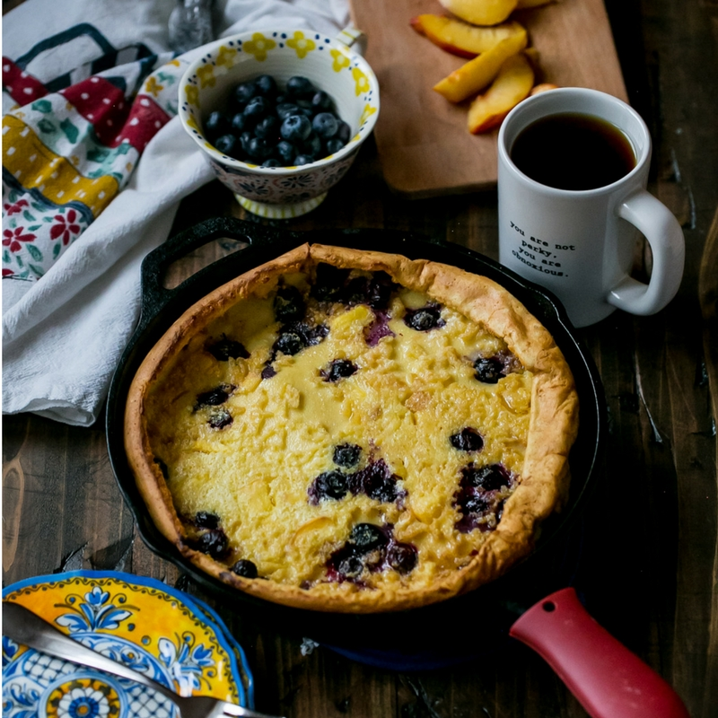 Peach Blueberry Dutch Baby Recipe
