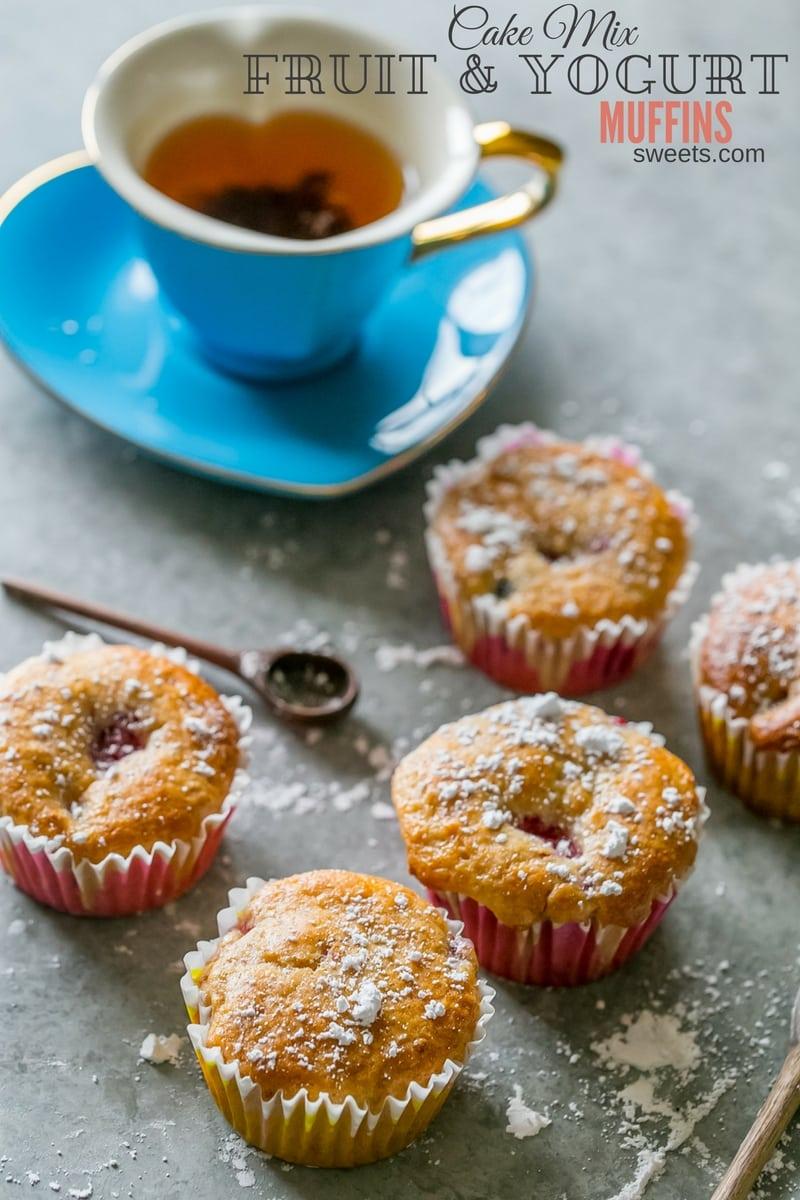 Cake With Fruit Yogurt : Cake Mix Fruit and Yogurt Muffins