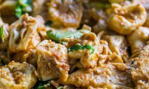 Creamy Chicken Bruschetta Tortellini One Pot Pasta