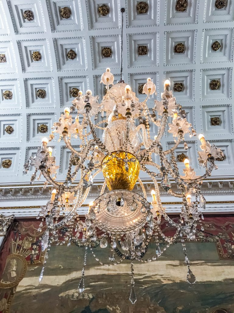 chandelier at the House of Lords room in the Bank of Ireland building, Dublin