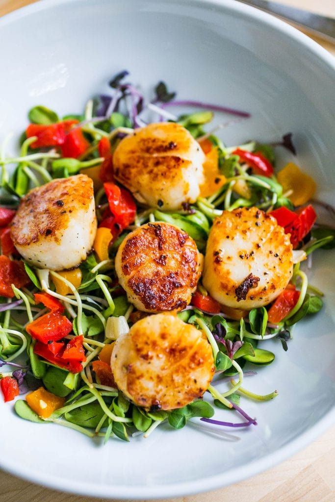 Scallop & Pepper Antipasti Salad