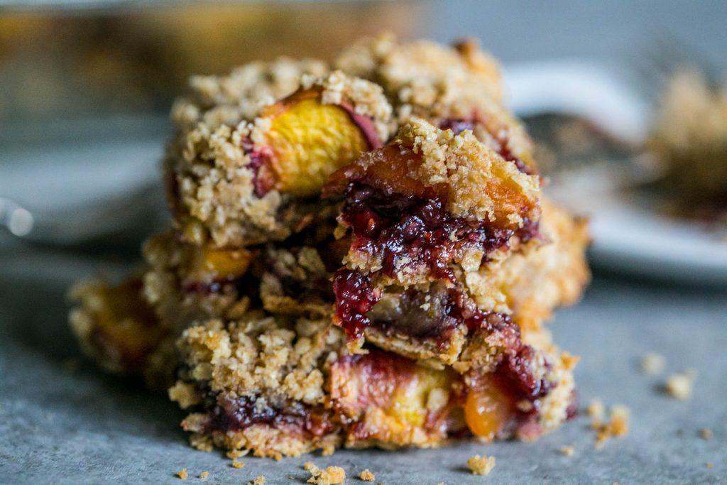love these peach raspberry bars
