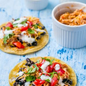 Shredded Chicken Green Chili Tacos meals