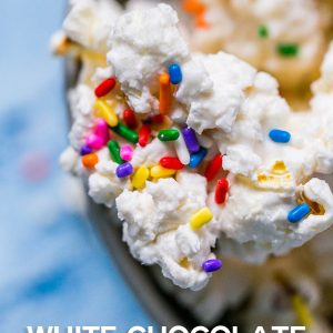 Cake Batter White Chocolate Popcorn