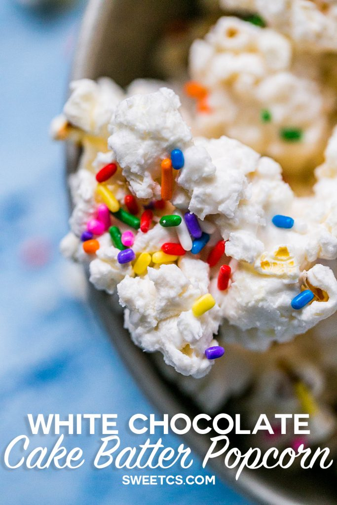 This White Chocolate Cake Batter Popcorn Is So