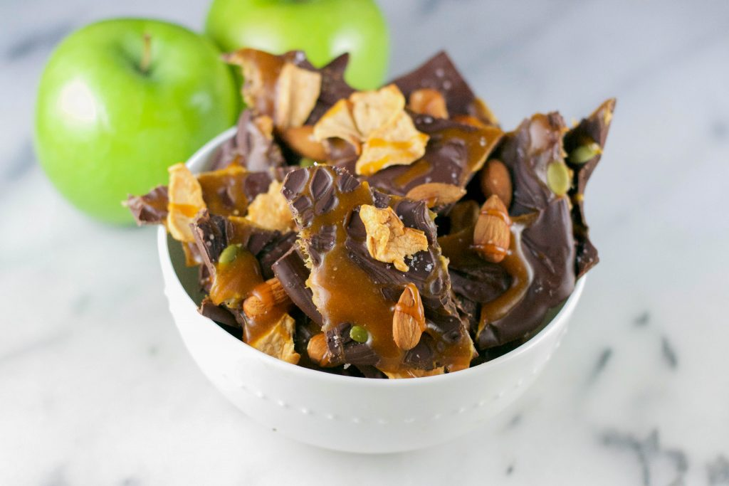 Caramel Apple Chocolate Bark (GF)