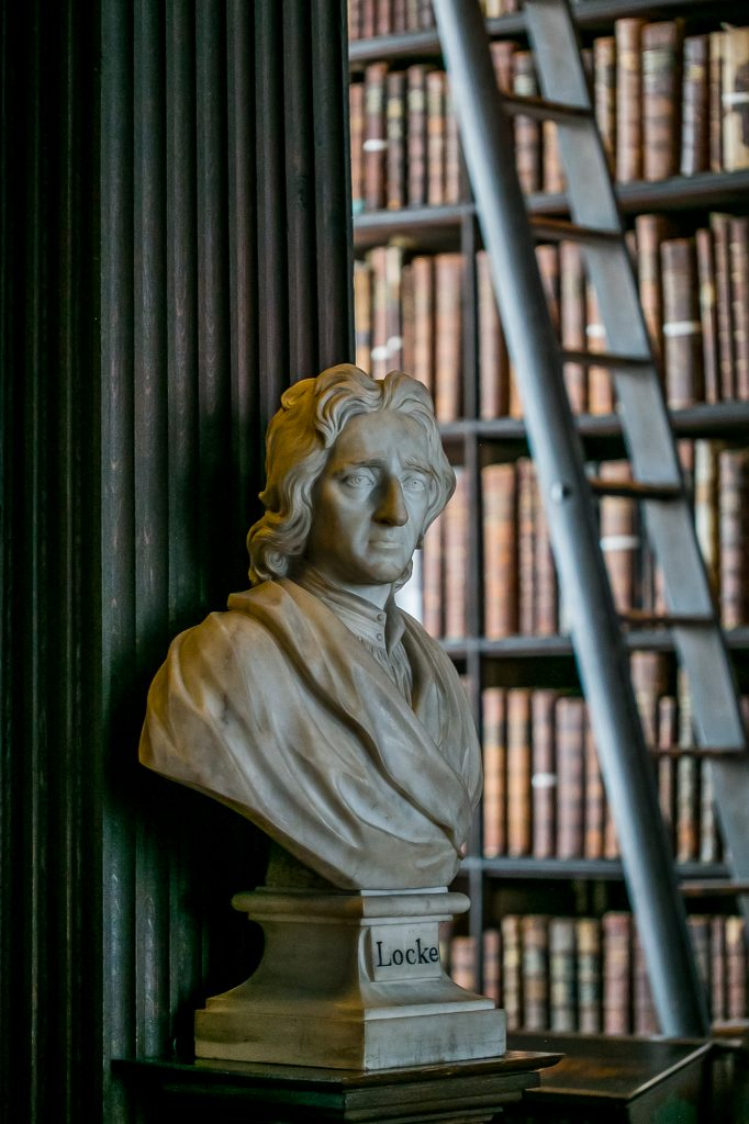 Locke Statue, Trinity College Dublin Ireland Long Room Picture