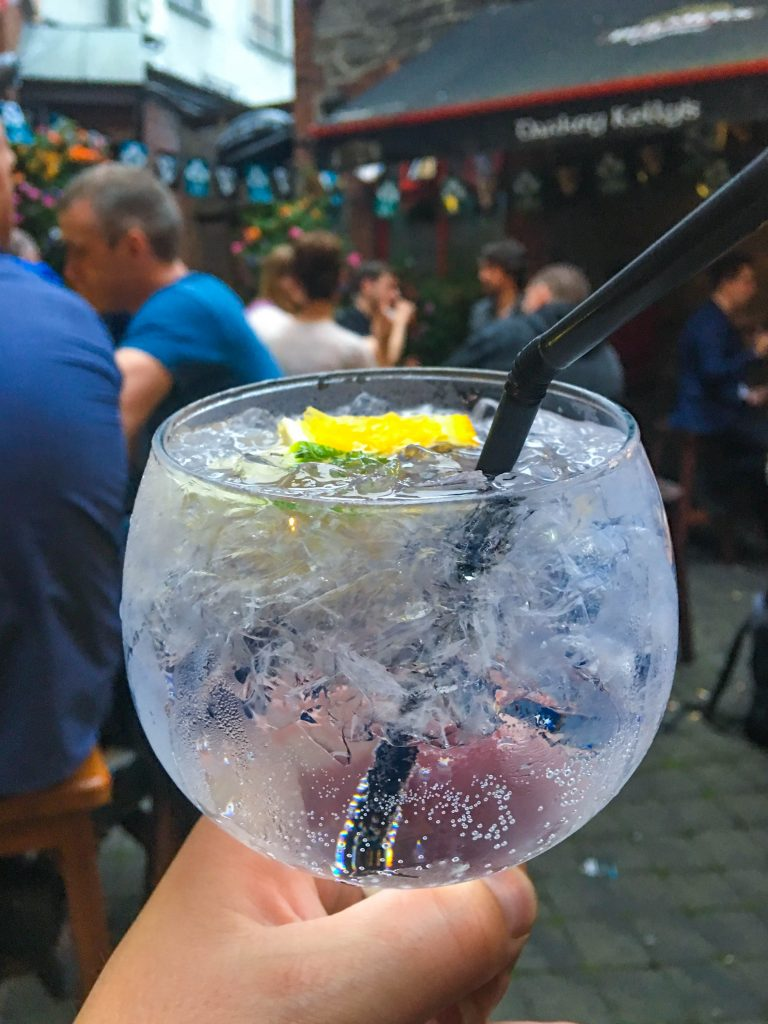 Gin and tonic, Darkey Kelley's, Dublin