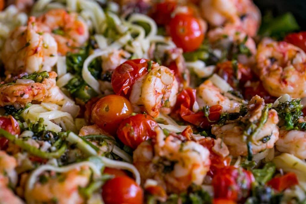 Tuscan Shrimp Linguine pasta