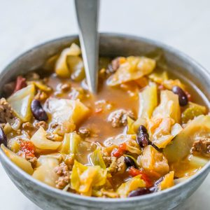 One Pot Hamburger Cabbage Soup