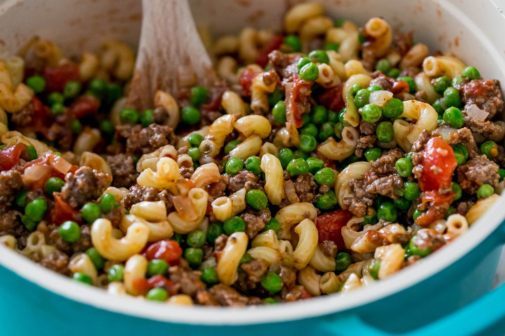 One Pot Beefy Macaroni Pasta Salad