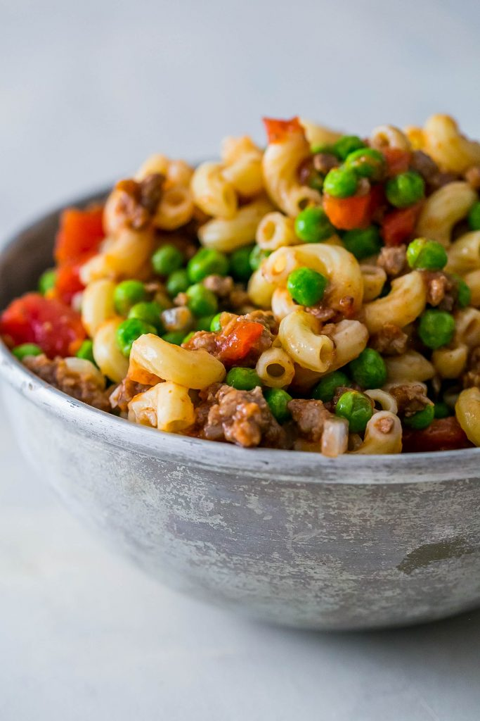 This macaroni pasta salad is so easy and delicious