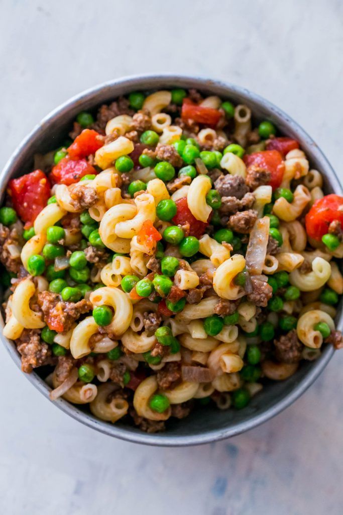 Quick and Easy beefy macaroni salad