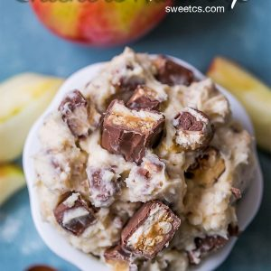 Snickers Cheesecake Fruit Dip