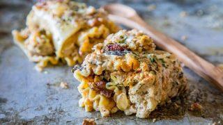 Creamy Baked Sausage and Alfredo Lasagna Roll Ups